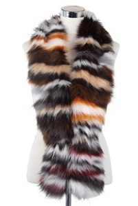 Wisteria London Multi Coloured Faux Fur Scarf