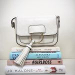 Fitzrovia Cross body bag White. Also available in black and mink