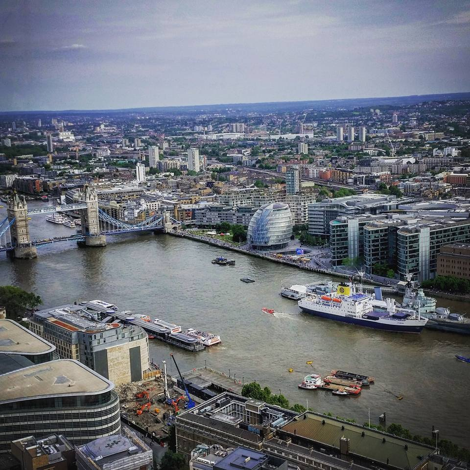 Free things to do in London - View of London Bridge from the Sky Garden
