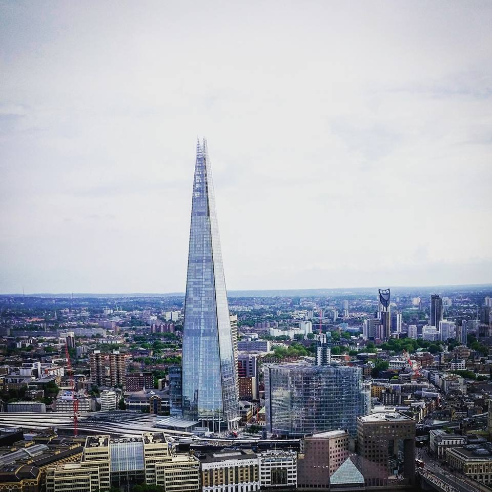 Free Things to do in London - View from the Sky Garden overloking the city and the Shard