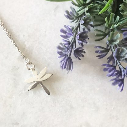 Sterling Silver Dragonfly Necklace Reverse