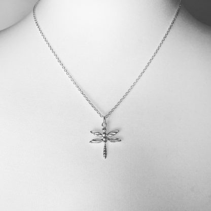 "Sterling Silver Dragonfly Necklace. Available on 16"" and 18"" Sterling Silver chain"