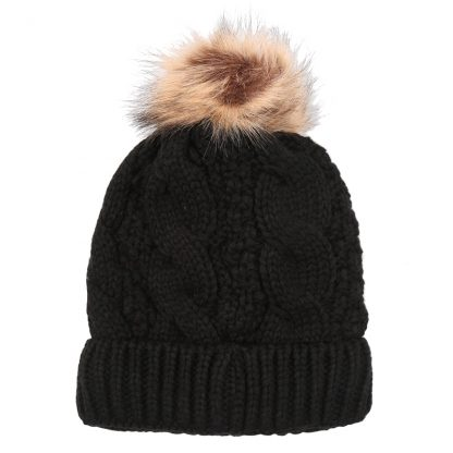 Sophia Black Bobble Hat