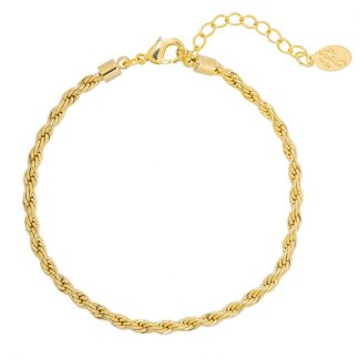 Chain Reaction Bracelet Gold Plated. Also available in Silver Plate