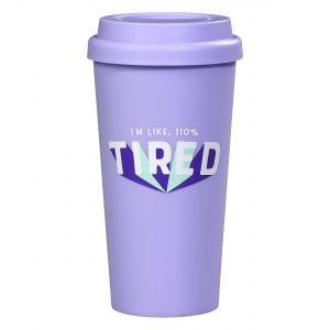 Yes Studio 110% Tired Travel Mug
