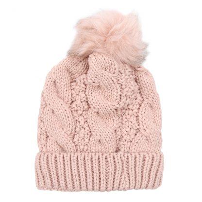 Sophia Pink Bobble Hat