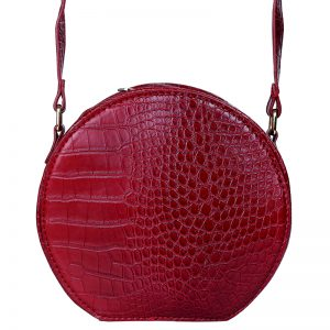 Sloane Circle Crossbody Bag in Red. Also available in green