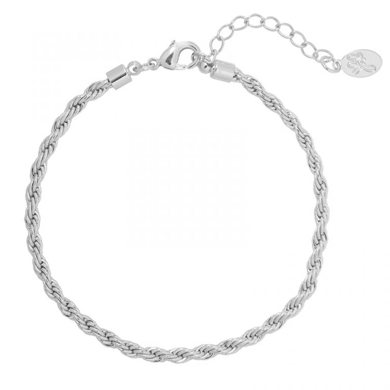 Chain Reaction Bracelet Silver Plated. Also available in Gold Plate