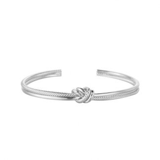Knot Bangle Silver Plated. Also available in Gold Plated