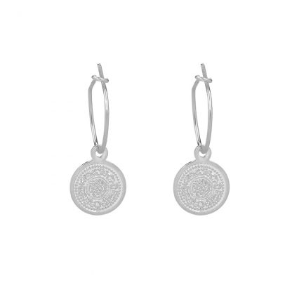 Lucky Coin Earrings Silver Plated. Also available in Gold Plated