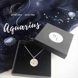 Sterling Silver Aquarius Constellation Necklace