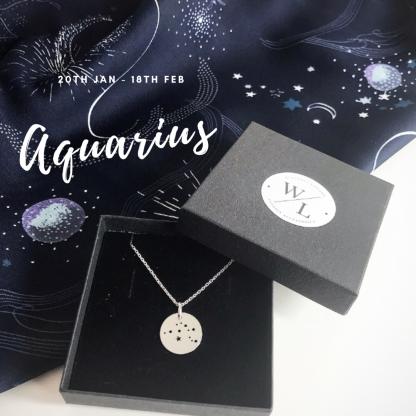 Sterling Silver Aquarius Constellation Necklace