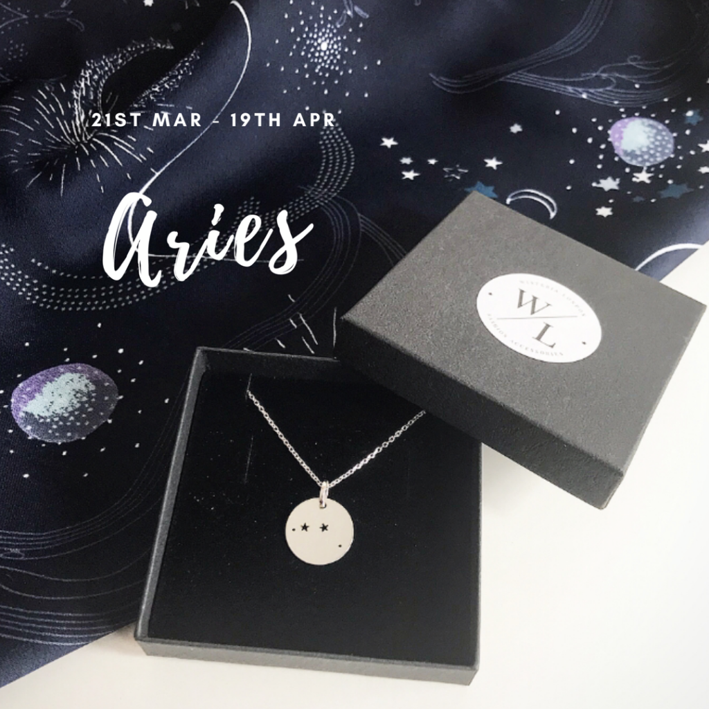 Sterling Silver Aries Constellation Necklace