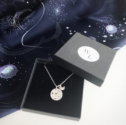 Sterling Silver Cancer Constellation Necklace