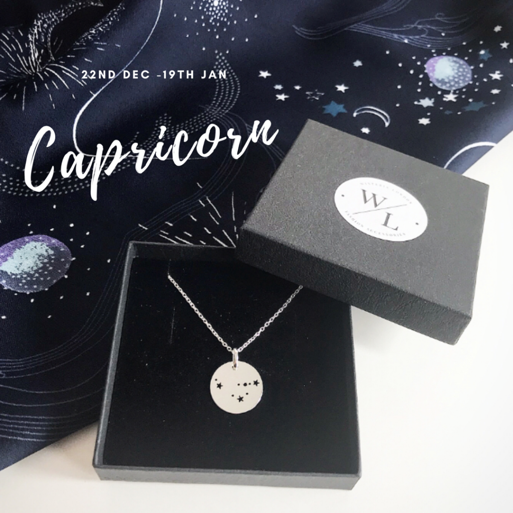 Sterling Silver Capricorn Constellation Necklace