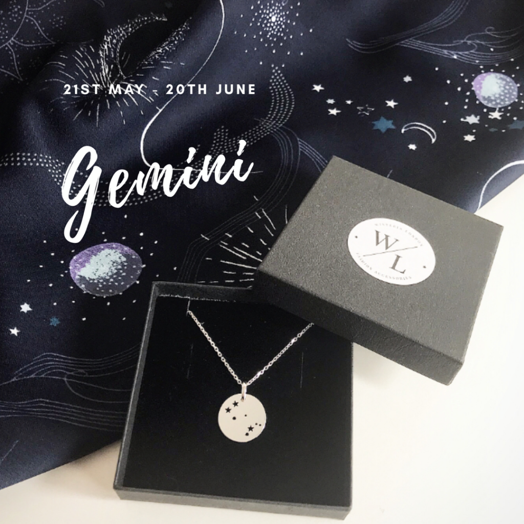 Sterling Slver Gemini Constellation Necklace