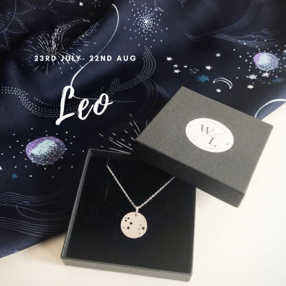 Sterling Silver Leo Constellation Necklace