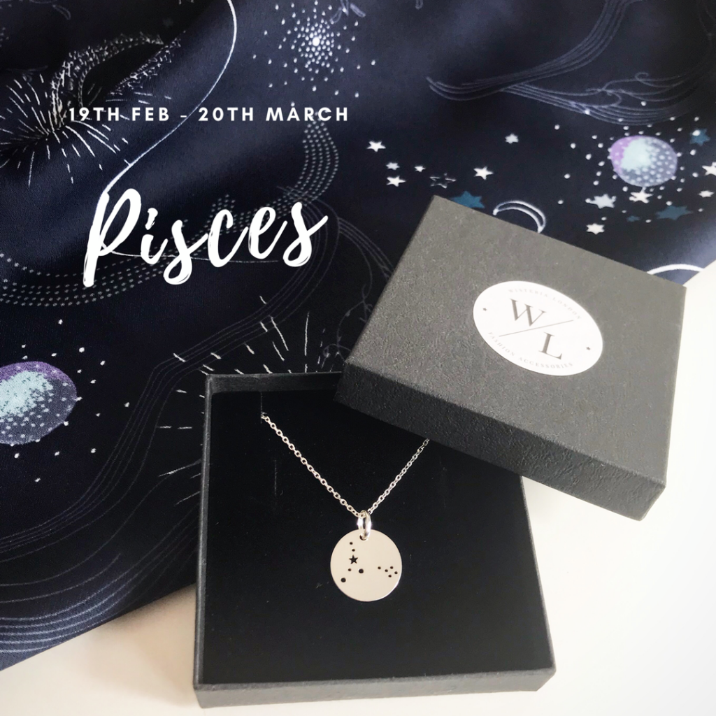 Sterling Silver Pisces Constellation Necklace
