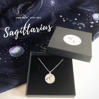 Sterling Silver Sagittarius Constellation Necklace