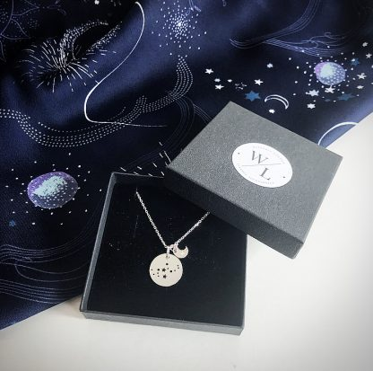 Sterling Silver Virgo Constellation Necklace
