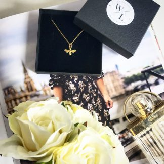 24k Gold Plated Bee Necklace