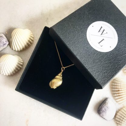 Shelly Gold Conch Shell Necklace