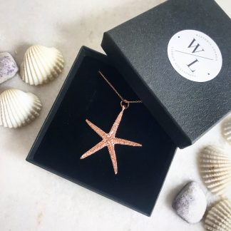 Cordelia Rose Gold Starfish Necklace