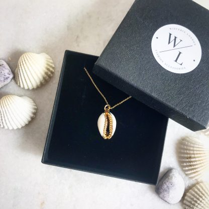 Helen Cowrie Shell Gold Necklace
