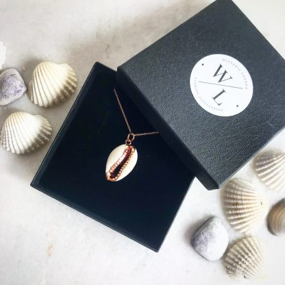 Helen Cowrie Shell Rose Gold Necklace