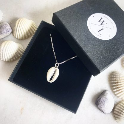 Helen Cowrie Shell Silver Necklace