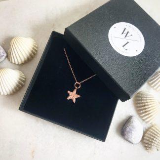 Isla Rose Gold Small Starfish Necklace