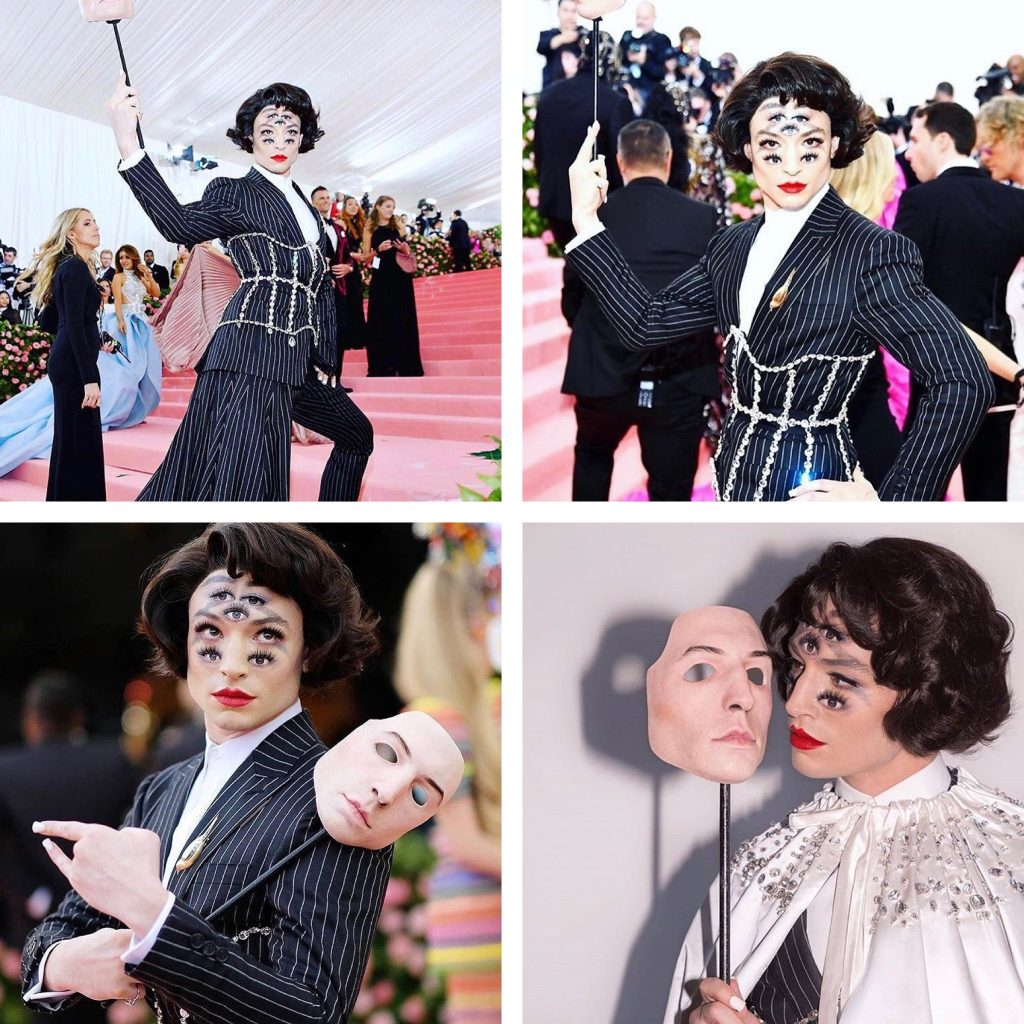 Ezra Miller at the Met Gala