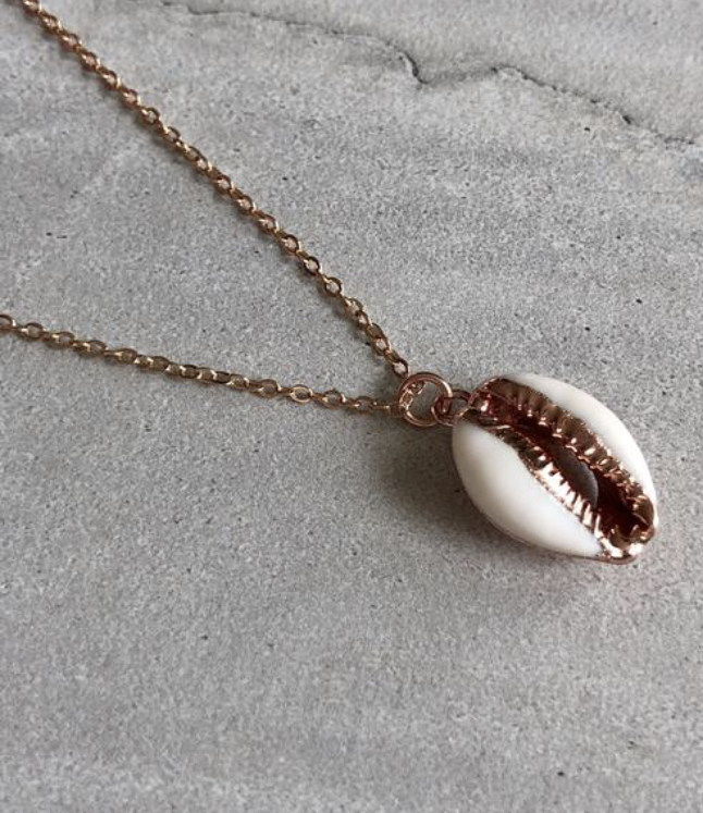 Bridesmaid Gift Guide - Helen Rose Gold Cowrie Shell Necklace
