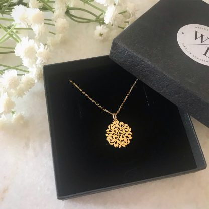 Entwined Gold Leaf Necklace