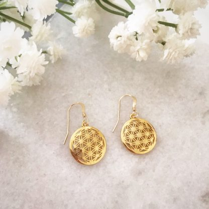 Flower of Life Drop Earrings