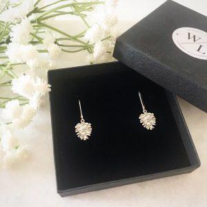 Pinecone Sterling Silver Earrings