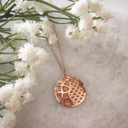 Floral Embellished Dome Necklace