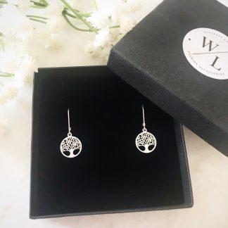 Tree of Life Sterling Silver Drop Earrings