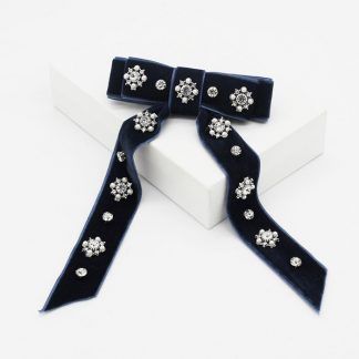 Amalie Embellished Bow Hair Clip