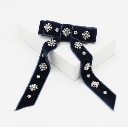 Amalie Embellished Bow Hair Clip