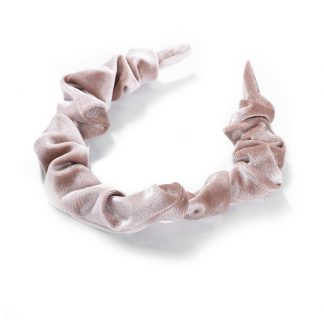 Amelia Light Pink Ruched Scrunchie Headband