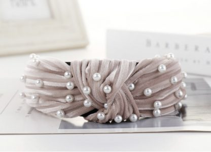 Angelique Pink Pearl Knot Headband