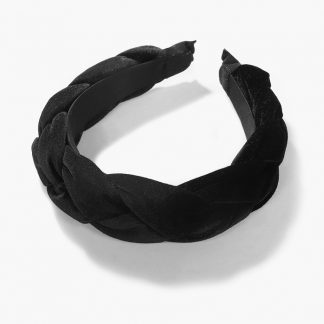 Boleyn Black Braided Padded Headband
