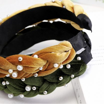 Charlotte Braided Pearl Headband 1