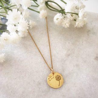 Thandie Gold Dandelion Necklace