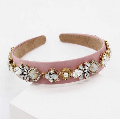 Esme Pink Jewel Embellished Headband
