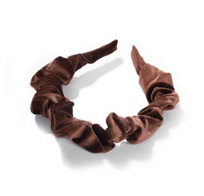Amelia Brown Ruched Scrunchie Headband