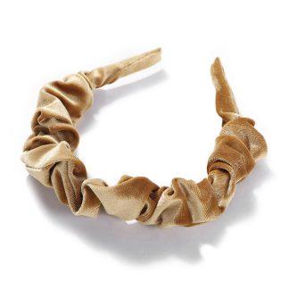 Amelia Gold Ruched Scrunchie Headband
