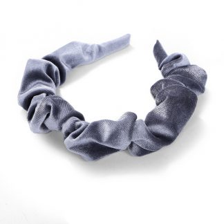 Amelia Grey Ruched Scrunchie Headband
