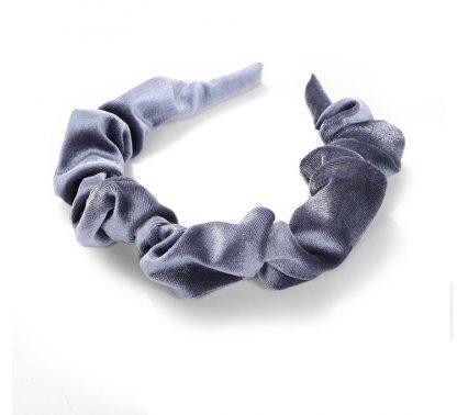 Amelia Grey Ruched Scrunchie Headband